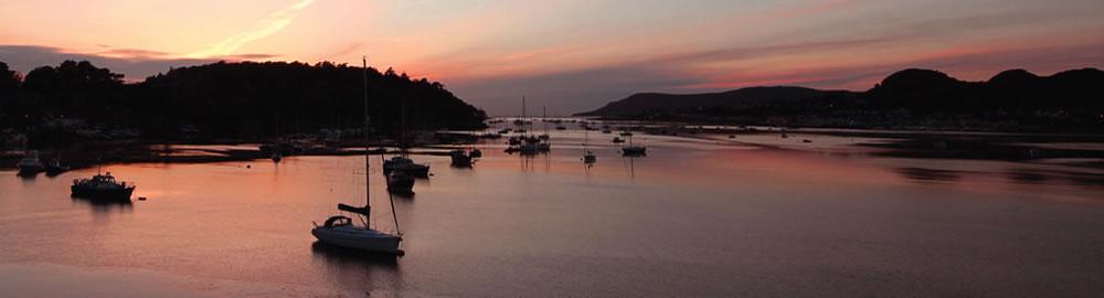 deganwy coast at dusk